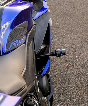 SAVAGE CNC Frame Slider or Crash Protector  For YAMAHA R15 V3.0 AND MT 15-Black and Blue