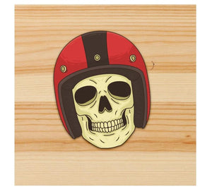 Skull Rider helmet sticker for motorcycle and car