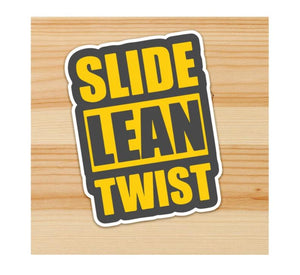 Slide Lean Twist Motorcycle Sticker