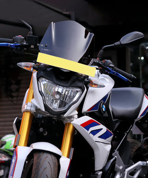 Small smoked visor or windscreen for BMW G310R