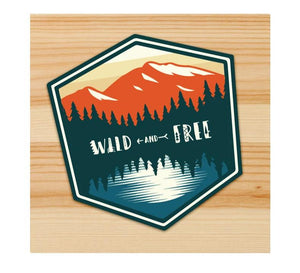 Wild And Free Motorcycle stickers