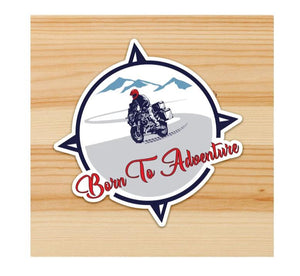 Born to Adventure Motorcycle Sticker