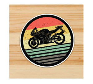 Bike on shore Motorcycle Sticker