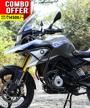 Combo of BMW G310 GS Upper and Lower Crash guard with Expedition Engine  Guard