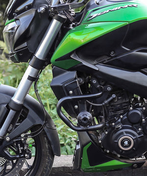 Armour Crash Guards Black Frame Sliders for Bajaj Dominar