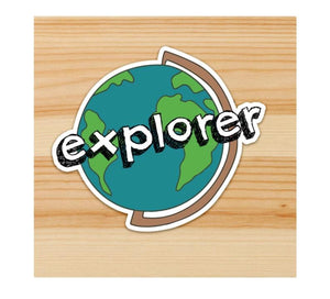 Explorer Motorcycle Sticker