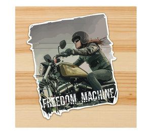 Freedom Machine Motorcycle Sticker