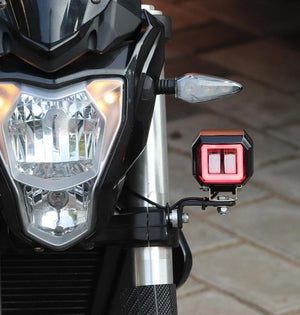 Harley Square Red Ring Fog Light