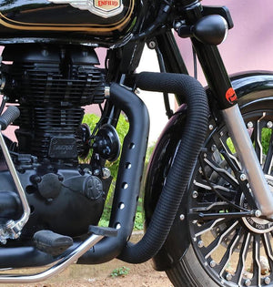 Heat Shield for Royal Enfield Black