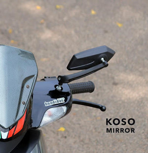 Black Koso Handle Bar Mirrors