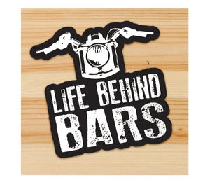 Life Behind Bars Motorcycle Sticker