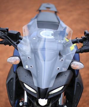 Dark Warrior Windshield/Visor for Yamaha MT 15-Transparent