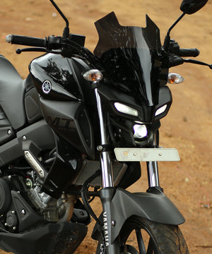 Dark Warrior Windshield/Visor for Yamaha MT 15