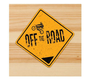Off the Road Motorcycle Sticker