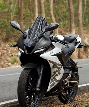 Dark Knight Wind Screen Fairing For Yamaha  R15 V3-Matte Black