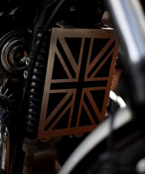 Flag Design Radiator Guard   for RE INTERCEPTOR 650 AND GT 650 by Legundary Custom Built