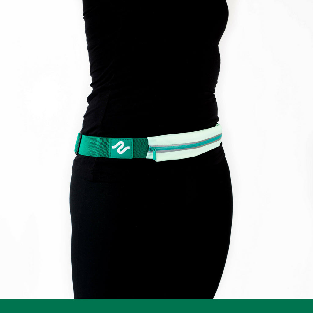 Green runEZ Hip Back Front