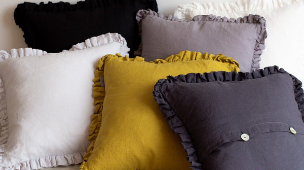 Introducing the new Oli ruffle cushions