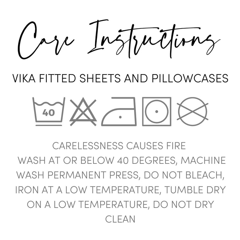 Vika White Deep Fitted Sheets