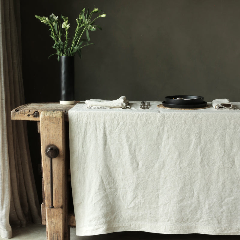 Linen Tablecloth Natural