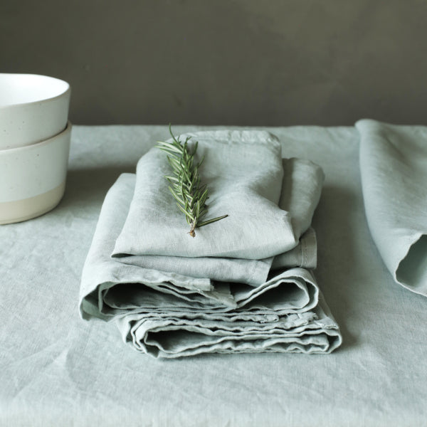 Linen Napkins Sage Pack of 4