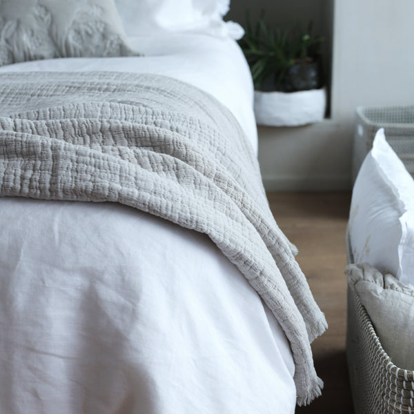 Simo Textured Large Throw/Wrap Natural