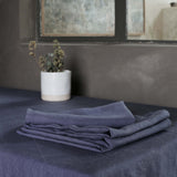 Garment Washed 100% Linen Napkin Set Aegean Blue