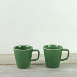 Parrot Green Ceramic Mug Set of 2