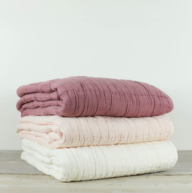 Nora Grid Throw Pomegranate