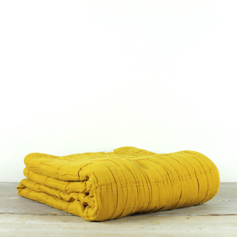 Nora Grid Throw Turmeric