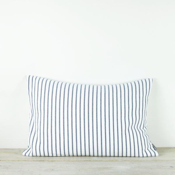 Hikari Blue Stripe Cotton Cushion