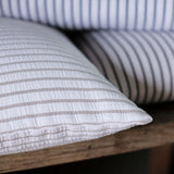 Hikari Taupe Stripe Cotton Cushion