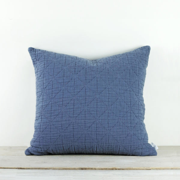 Lilla Mattelasse Aegean Blue Cushion