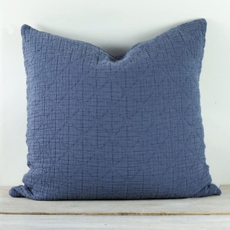 Lilla Mattelasse Aegean Blue Pillow