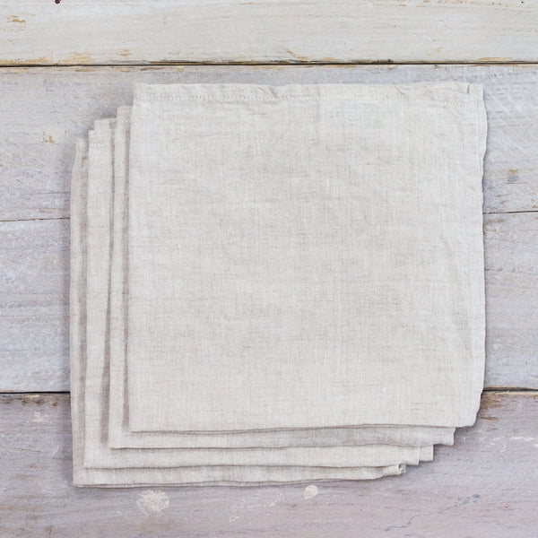 Linen Napkins Natural Pack of 4