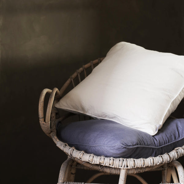 Lisbon 100% Linen Cushion Aegean Blue