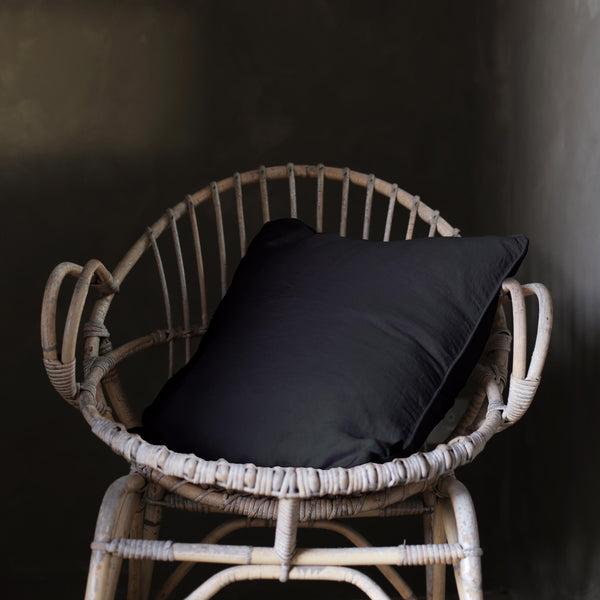 Lisbon 100% Linen Cushion Black