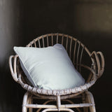 Lisbon 100% Linen Cushion Silver Grey