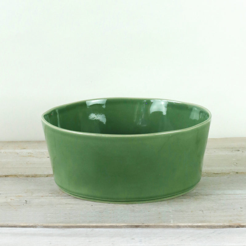 Parrot Green Ceramic Serving Bowl