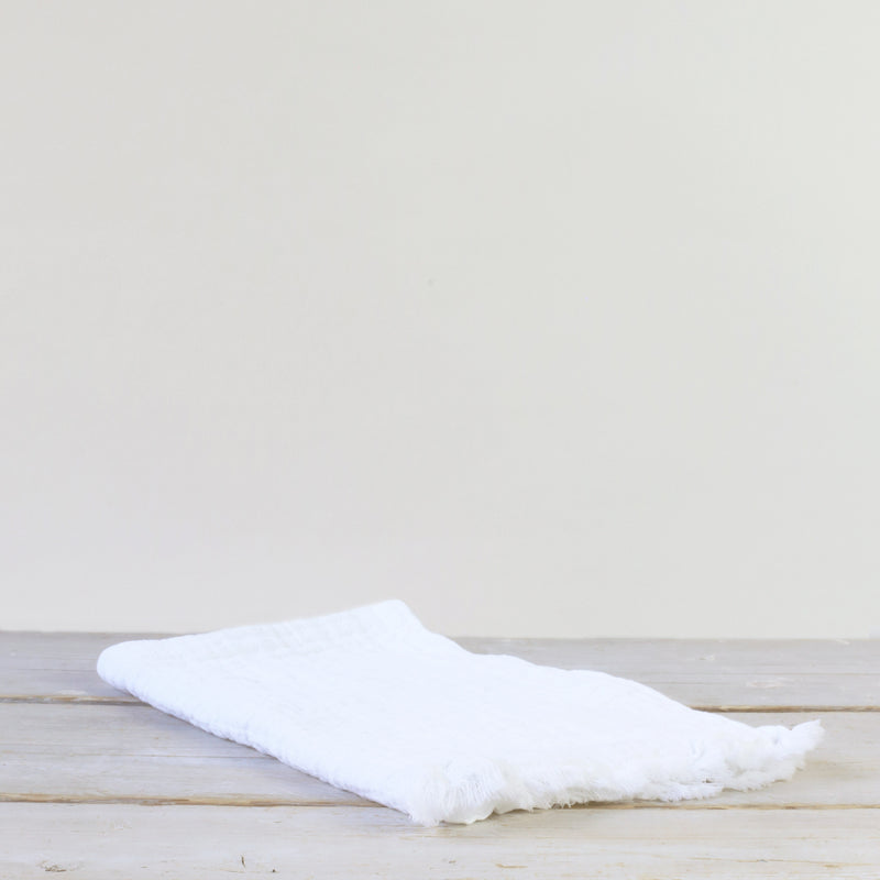 Simo Textured Hand/Tea Towel White