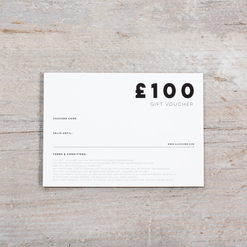 £100 Gift Voucher from ALSO Home