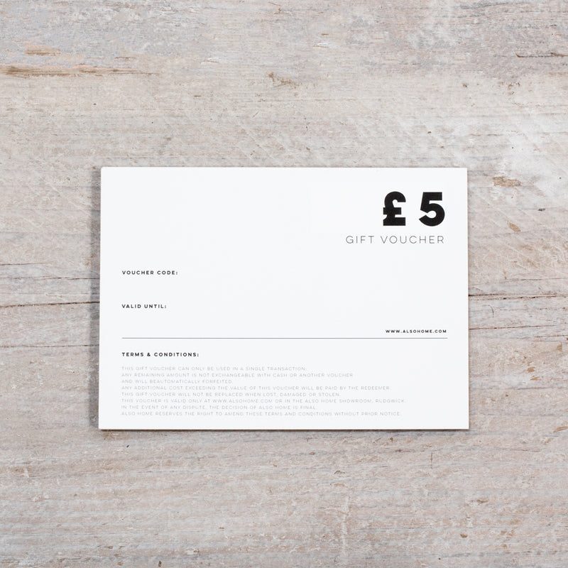 ALSO Home Gift Card £5