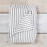 Hikari Grey Stripe Cotton Throw