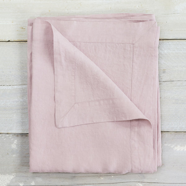 Blush Pink Garment Washed 100% Linen Tablecloth