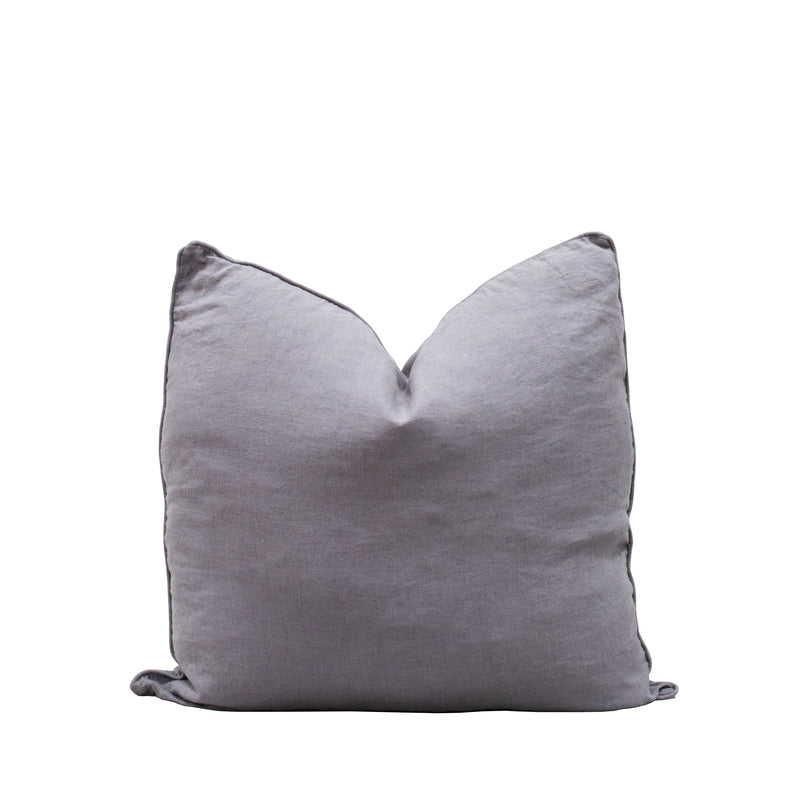 Lisbon 100% Linen Cushion Pewter Grey