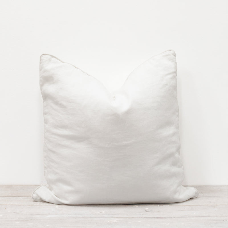 Lisbon 100% Linen Cushion White