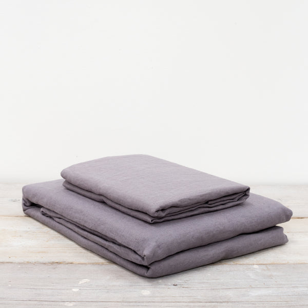 Lisbon Pewter Grey 100% Linen Bed Linen