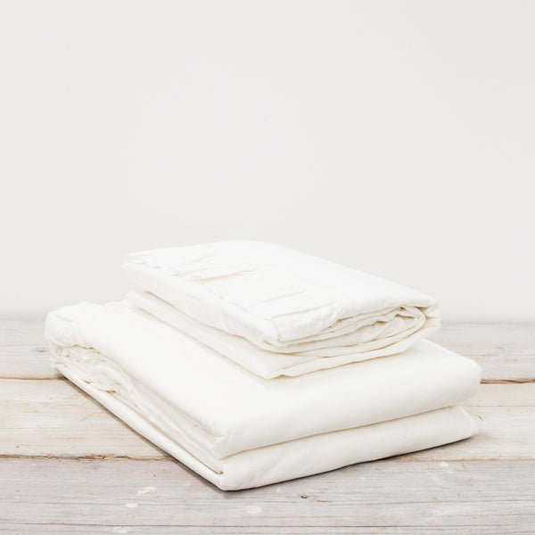 Malmo Ruffle 100% Cotton White Bed Linen