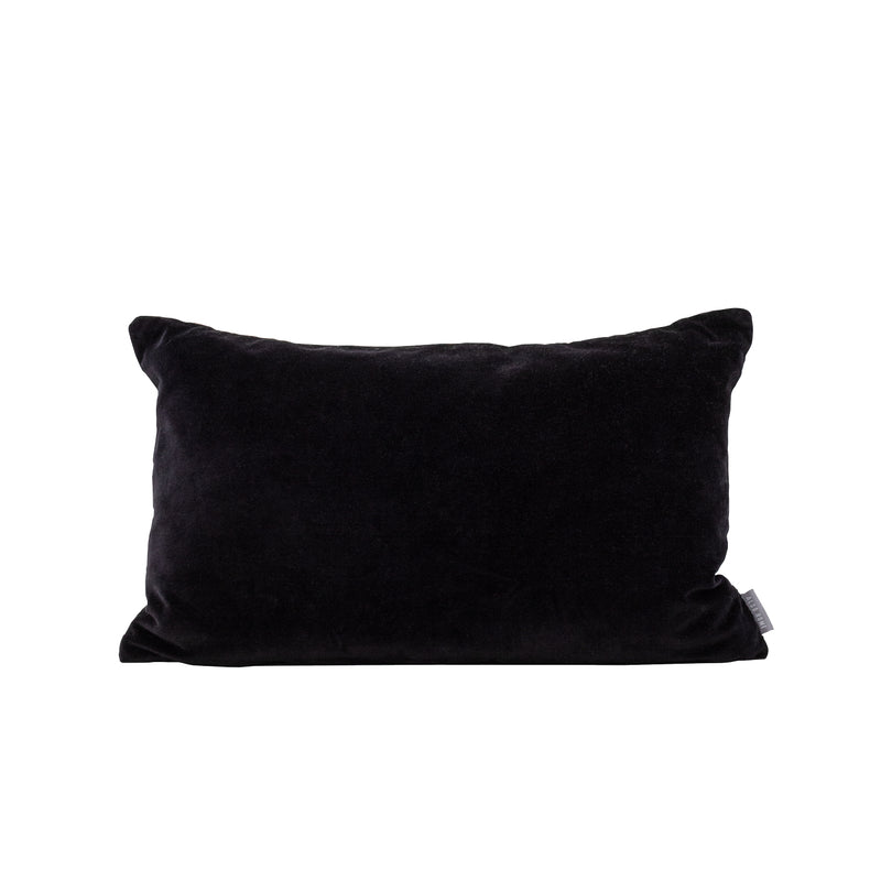 Misi Black Velvet Cushion