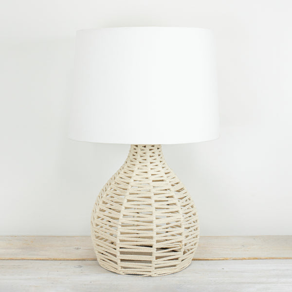 Ori Large Natural Rope Lamp with White Shade